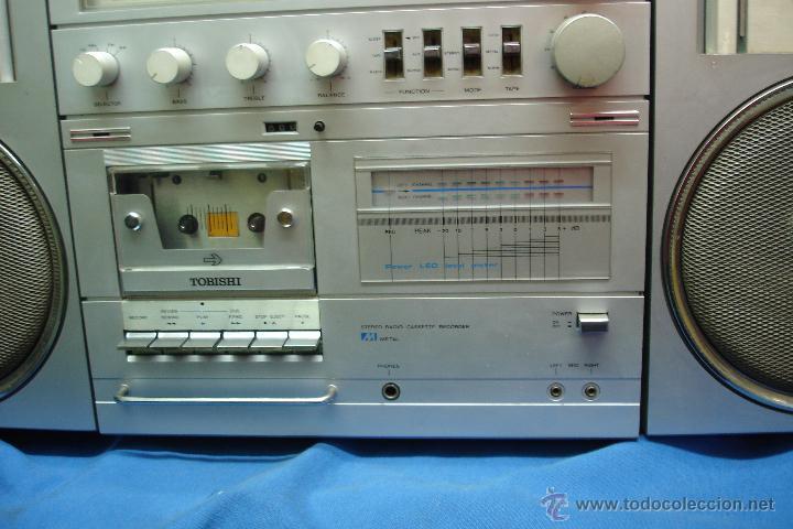 Radios antiguas: APARATO DE MÚSICA MARCA TOBISHI DE GRAN TAMAÑO DE LOS AÑOS 80 - FUNCIONA BIEN - Foto 7 - 43775061