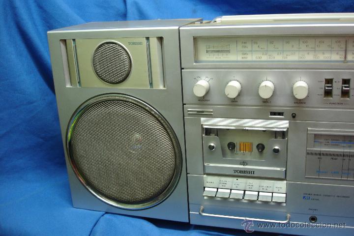Radios antiguas: APARATO DE MÚSICA MARCA TOBISHI DE GRAN TAMAÑO DE LOS AÑOS 80 - FUNCIONA BIEN - Foto 8 - 43775061