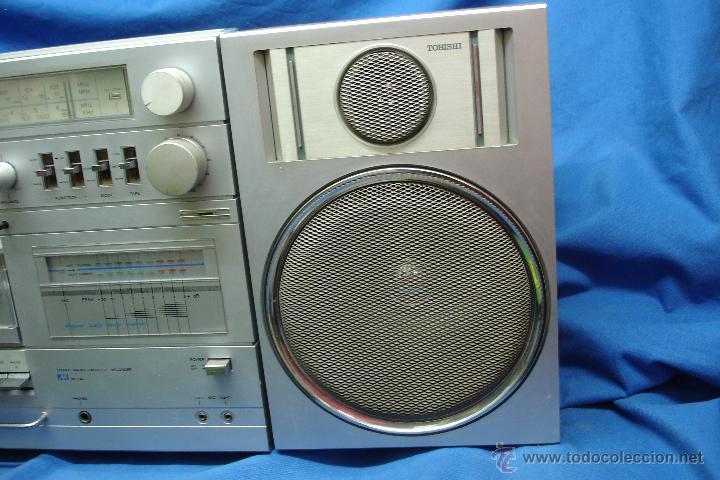 Radios antiguas: APARATO DE MÚSICA MARCA TOBISHI DE GRAN TAMAÑO DE LOS AÑOS 80 - FUNCIONA BIEN - Foto 9 - 43775061
