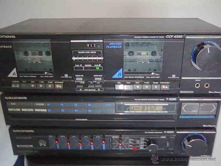 EQUIPO GRUNDIG V4200 AMPLIFICADOR DOBLE PLETINA CASETTE 2 TAPES + RADIO, (Radios, Gramófonos, Grabadoras y Otros - Transistores, Pick-ups y Otros)
