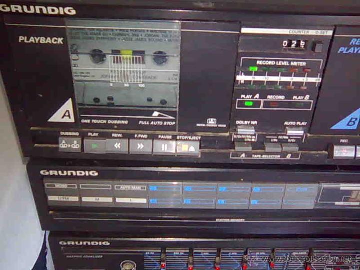 Radios antiguas: EQUIPO GRUNDIG V4200 AMPLIFICADOR doble pletina casette 2 TAPES + RADIO, - Foto 2 - 58072623