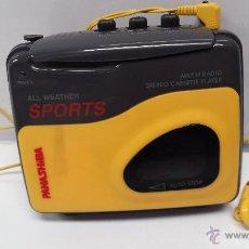 Radios antiguas: WALKMAN RADIO CASSETTE AM/FM STEREO PANASHIBA - WATER RESISTANT. Lote 161600876