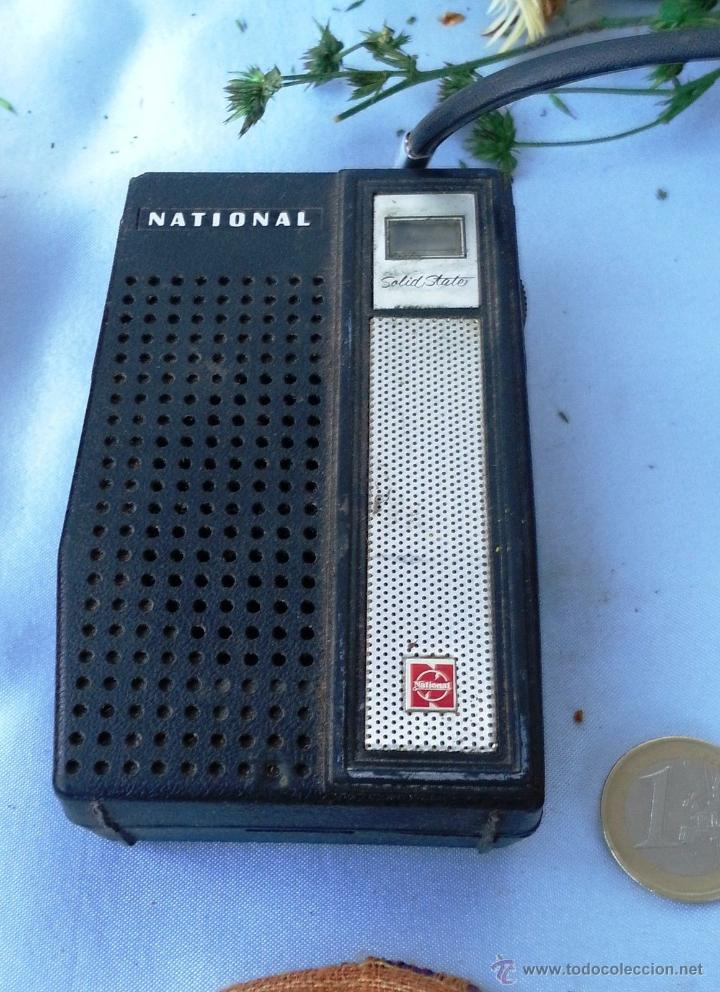 Radios antiguas: VIEJO TRANSISTOR, RADIO MARCA NATIONAL. OLD TRANSISTOR RADIO BRAND NATIONAL - Foto 1 - 44090501