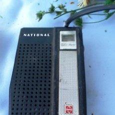Radios antiguas: VIEJO TRANSISTOR, RADIO MARCA NATIONAL. OLD TRANSISTOR RADIO BRAND NATIONAL. Lote 44090501