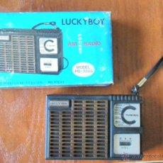 Radios antiguas: RADIO TRANSISTOR LUCKY BOY CON CAJA FUNCIONANDO. Lote 44343525
