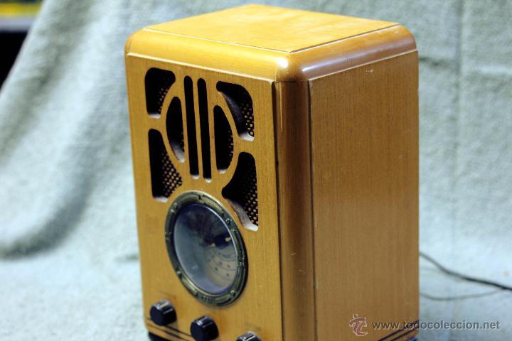 Radios antiguas: REPLICA DE RADIO ANTIGUA. FUNCIONANDO. - Foto 2 - 88285910