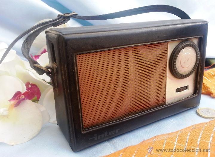 VIEJO TRANSISTOR, RADIO MARCA INTER (Radios, Gramófonos, Grabadoras y Otros - Transistores, Pick-ups y Otros)