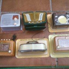 Radios antiguas: CINCO REPLICAS EN MINIATURA;BUSH,SUPERGIOIELLO,IBERIA,EXCELSIOR,SILVERTONE.. Lote 45380206