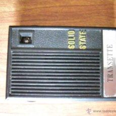 Radios antiguas: ANTIGUA RADIO TRANSISTOR TRANSETTE FUNCIONANDO. Lote 45597323