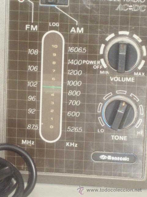 Radios antiguas: VINTAGE.RADIO TRANSISTOR,MANSONIC.FUNCIONANDO. - Foto 3 - 45879451