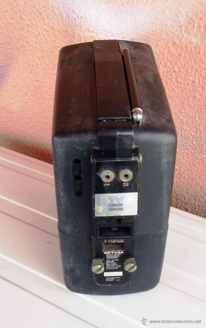Radios antiguas: TELEVISOR PORTATIL STANDARD SR3 - TRANSISTOR TELEVISION - Foto 4 - 47156658