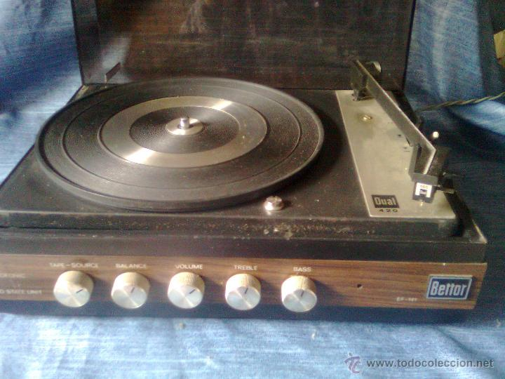 Radios antiguas: Tocadiscos español Bettor EF-141 - Giradiscos Dual 420 años 60´s - Foto 2 - 102823346