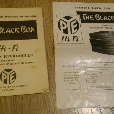 Radios antiguas: THE BLACK BOX RECORD REPRODUCES MANUAL DE USUARIO DE TOCADISCOS PYE ENGLAND . Lote 46456728