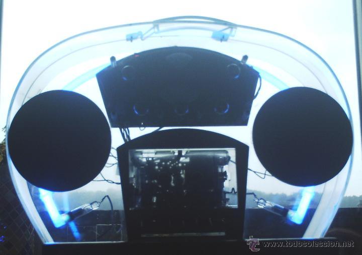 Radios antiguas: Radio caset trasparente con luz de neón - Foto 5 - 46530426