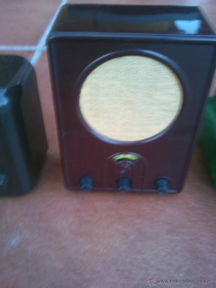 Radios antiguas: REPLICAS EN MINIATURA.EKCO.ALLOCCHIO BACCHINI,BUSH,ROLAND BRANDT,SONORETTE.CON TELA .POCO USO. - Foto 3 - 46894995