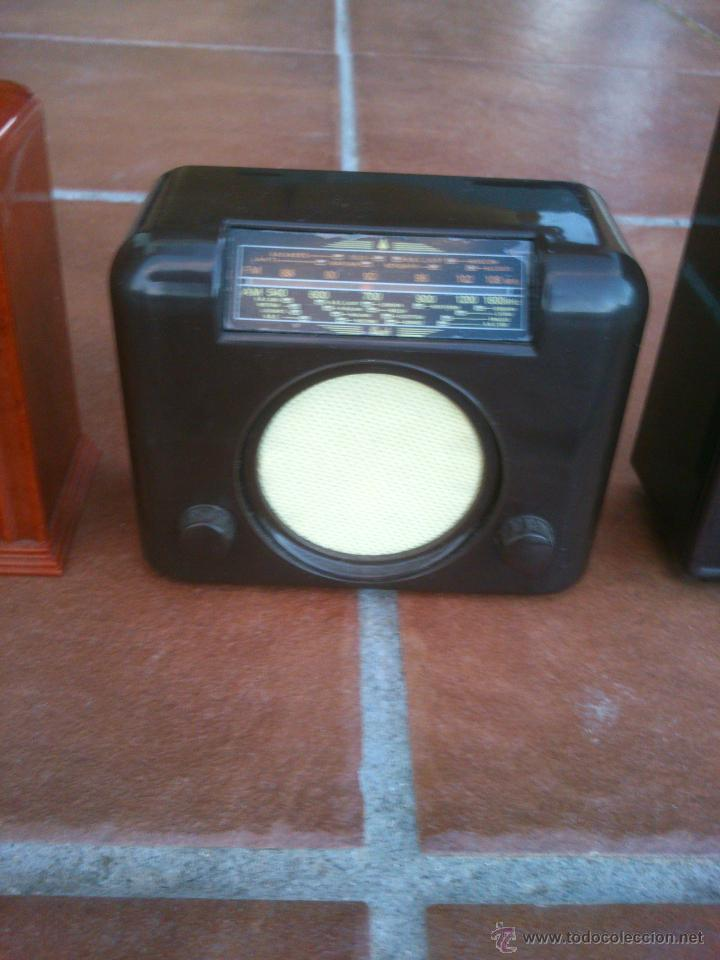 Radios antiguas: REPLICAS EN MINIATURA.EKCO.ALLOCCHIO BACCHINI,BUSH,ROLAND BRANDT,SONORETTE.CON TELA .POCO USO. - Foto 4 - 46894995
