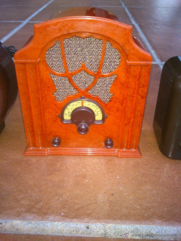 Radios antiguas: REPLICAS EN MINIATURA.EKCO.ALLOCCHIO BACCHINI,BUSH,ROLAND BRANDT,SONORETTE.CON TELA .POCO USO. - Foto 5 - 46894995