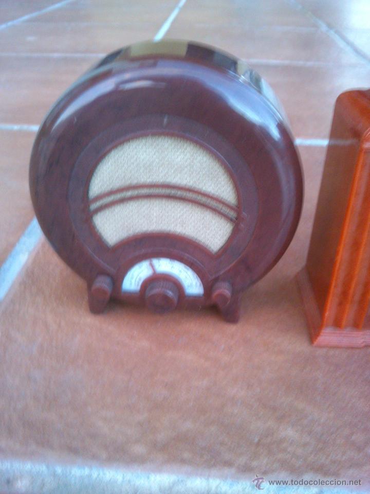 Radios antiguas: REPLICAS EN MINIATURA.EKCO.ALLOCCHIO BACCHINI,BUSH,ROLAND BRANDT,SONORETTE.CON TELA .POCO USO. - Foto 6 - 46894995