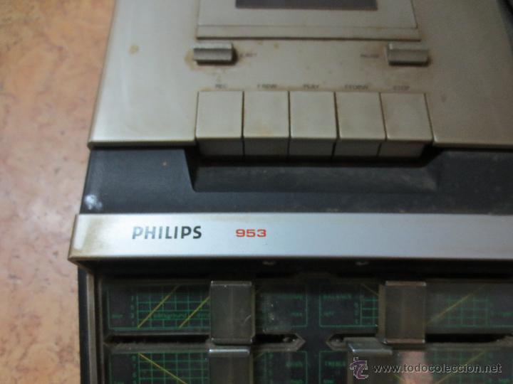 Radios antiguas: radio tocadiscos radiocassette. 953 philips - Foto 3 - 47063420