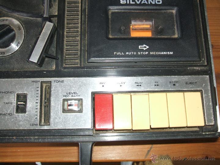 Radios antiguas: Equipo Compacto.Marca Silvano (Radio,Cassette y Tocadiscos) - FKPC-717 - Foto 2 - 47320456