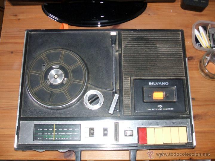 Radios antiguas: Equipo Compacto.Marca Silvano (Radio,Cassette y Tocadiscos) - FKPC-717 - Foto 7 - 47320456