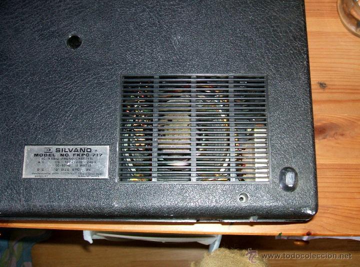Radios antiguas: Equipo Compacto.Marca Silvano (Radio,Cassette y Tocadiscos) - FKPC-717 - Foto 8 - 47320456