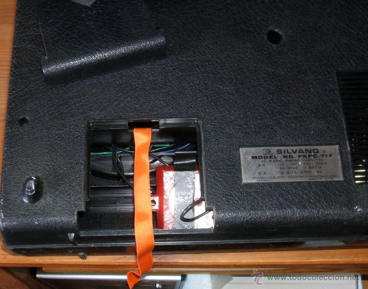 Radios antiguas: Equipo Compacto.Marca Silvano (Radio,Cassette y Tocadiscos) - FKPC-717 - Foto 9 - 47320456