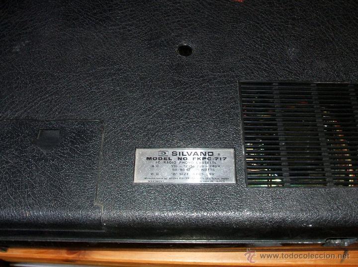 Radios antiguas: Equipo Compacto.Marca Silvano (Radio,Cassette y Tocadiscos) - FKPC-717 - Foto 10 - 47320456