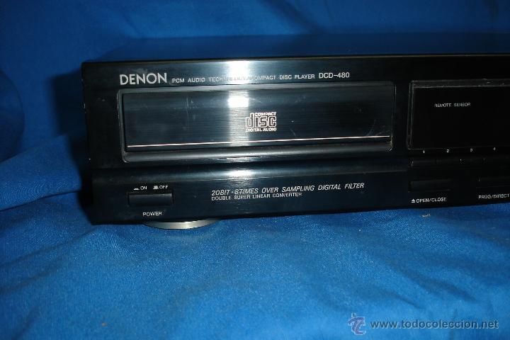 Radios antiguas: DENON PCM AUDIO TECHNOLOGY DISC PLAYER DCD - 480- ALTA GAMA- FUNCIONA - Foto 5 - 47404508