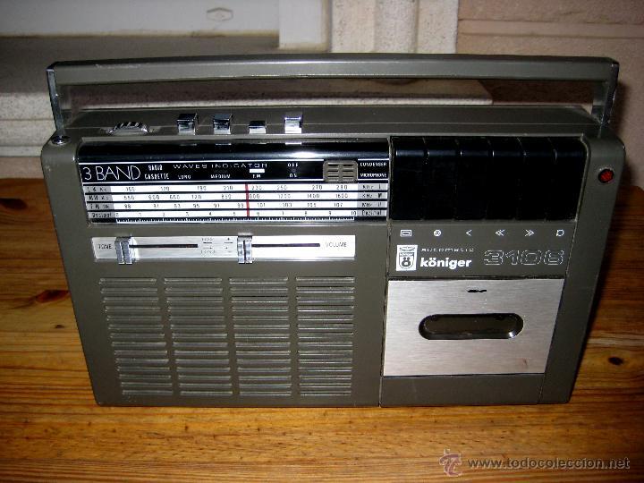 RADIO KÖNIGER 3106 - 3 BAND. SPANISH RECEIVER. (Radios, Gramófonos, Grabadoras y Otros - Transistores, Pick-ups y Otros)