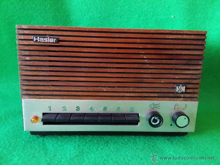 RECEPTOR DE HILO MUSICAL HASLER FUNCIONA (Radios, Gramófonos, Grabadoras y Otros - Transistores, Pick-ups y Otros)