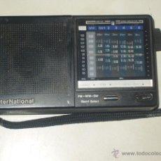Radios antiguas: RADIO TRANSISTOR INTERNACIONAL.FUNCIONANDO.. Lote 47771411