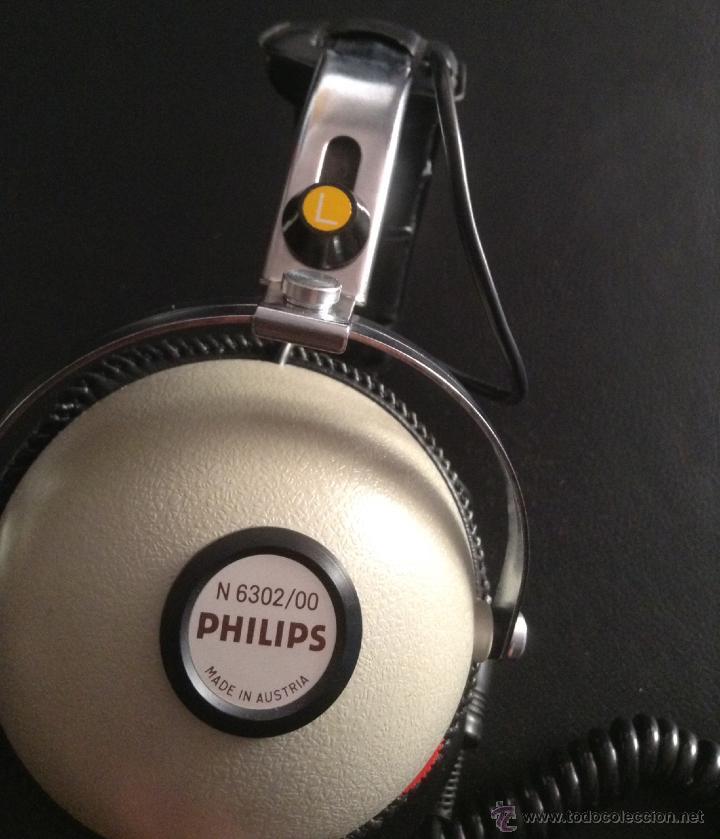 Radios antiguas: auriculares cascos vintage hifi philips n6302 en su caja original nuevos - Foto 3 - 47879309