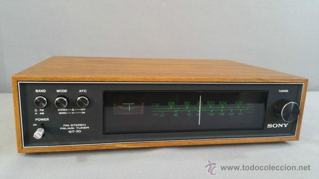 SONY ST-70 STEREO TUNER AÑOS 70 (Radios, Gramófonos, Grabadoras y Otros - Transistores, Pick-ups y Otros)
