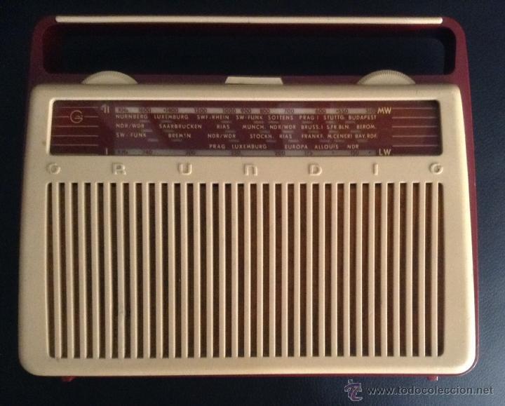 PRECIOSA RADIO PORTATIL AÑOS 60 VINTAGE GRUNDIG Z NR 1084 (Radios, Gramófonos, Grabadoras y Otros - Transistores, Pick-ups y Otros)