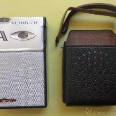 Radios antiguas: TRANSISTOR ANTIGUO EN SU FUNDA. JAPÓN. FUNCIONA. Lote 48382141