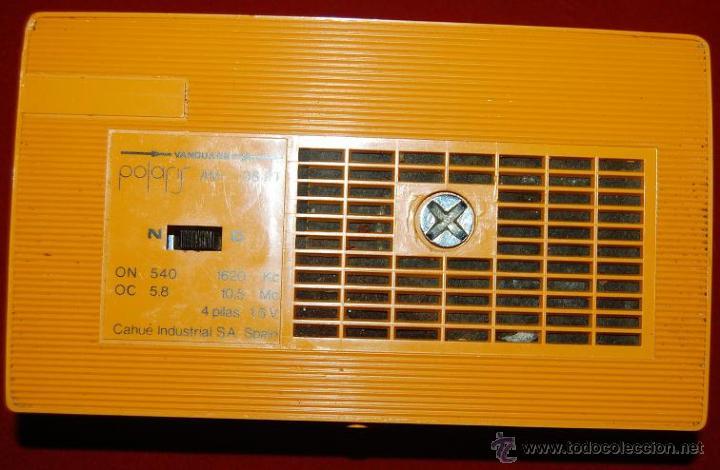 Radios antiguas: TRANSISTOR RADIO VANGUARD POLARIS 96 PT AM-AÑOS 60 - Foto 2 - 48747220