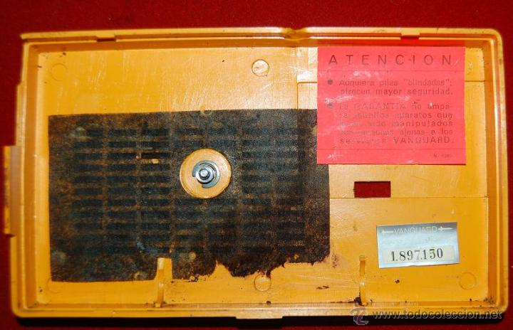 Radios antiguas: TRANSISTOR RADIO VANGUARD POLARIS 96 PT AM-AÑOS 60 - Foto 6 - 48747220