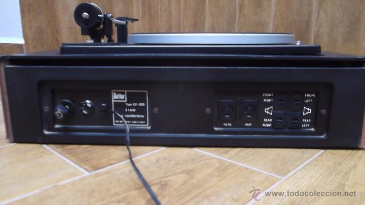 Radios antiguas: Tocadiscos Aleman Dual 1224 Bettor EF-235 1975 - Foto 4 - 49157555