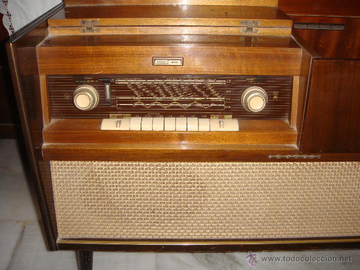 Antiguo mueble radio tocadiscos pic a o comprar radios transistores y pick ups en - Fotos radios antiguas ...