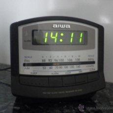 Radios antiguas: RADIO RELOJ DESPERTADOR DE AIWA - MODELO FR-A150EZ - CLÁSICO - RETRO - VINTAGE. Lote 49287576