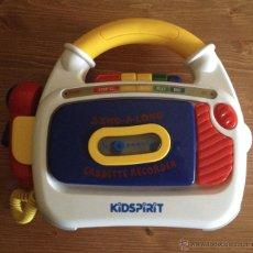 Radios antiguas: SING-A-LONG CASSETTE PLAYER RECORDER MARCA KIDSPIRIT. Lote 50987341