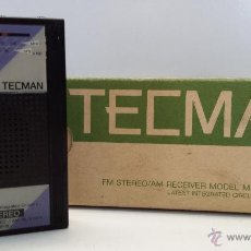 Radios antiguas: ANTIGUA RADIO MARCA TECMAN MR-15 MADE IN JAPAN - FUNCIONANDO. Lote 51412730