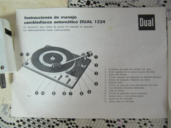 Radios antiguas: PLATO TOCADISCOS BETTOR EF-143. COMPLETO, CON ALTAVOCES, MANUAL DE INSTRUCCIONES... - Foto 5 - 51451178