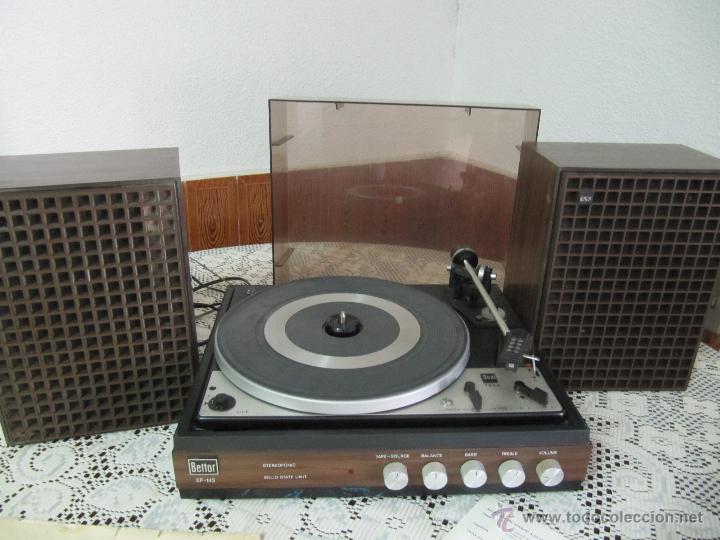 Radios antiguas: PLATO TOCADISCOS BETTOR EF-143. COMPLETO, CON ALTAVOCES, MANUAL DE INSTRUCCIONES... - Foto 12 - 51451178