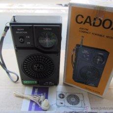 Radios antiguas: ANTIGUA RADIO TRANSISTOR CADOX NUEVO A ESTRENAR RETRO - VINTAGE. Lote 51566774