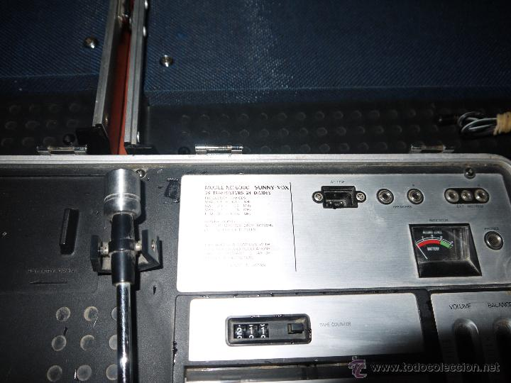 Radios antiguas: CENTRO MUSICAL SUNNY-VOX-6000( MADE IN JAPAN ),VINTAGE ,FUNCIONA PERFECTAMENTE.VER FOTOS. - Foto 4 - 51810522
