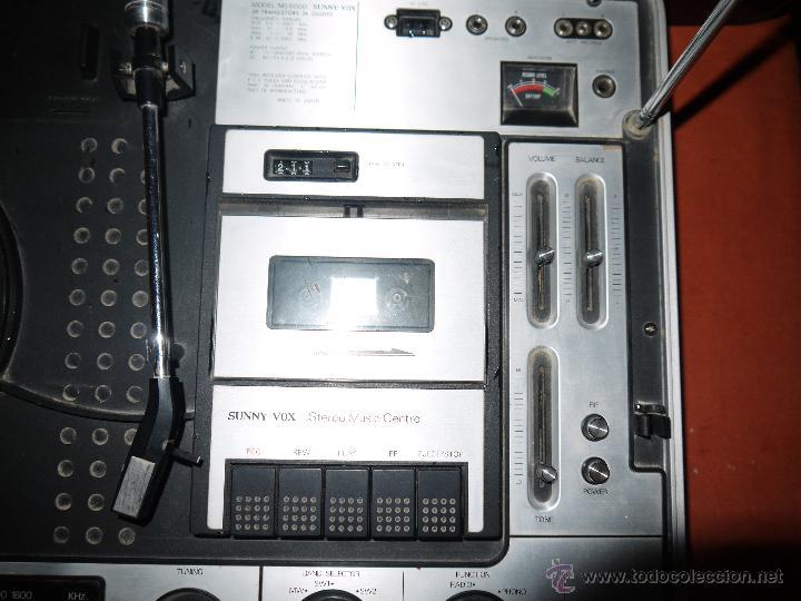 Radios antiguas: CENTRO MUSICAL SUNNY-VOX-6000( MADE IN JAPAN ),VINTAGE ,FUNCIONA PERFECTAMENTE.VER FOTOS. - Foto 5 - 51810522