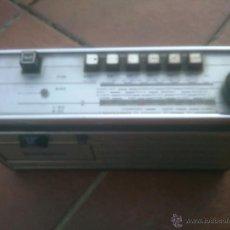 Radios antiguas: RADIO CASSETTE PHILIPS CUERO VINTAGE DIFICIL. Lote 51968664
