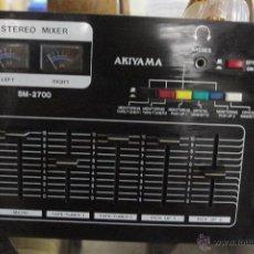 Radios antiguas: MESA DE MEZCLAS AKIYAMA STEREO MIXER SM – 2700 . Lote 52125517